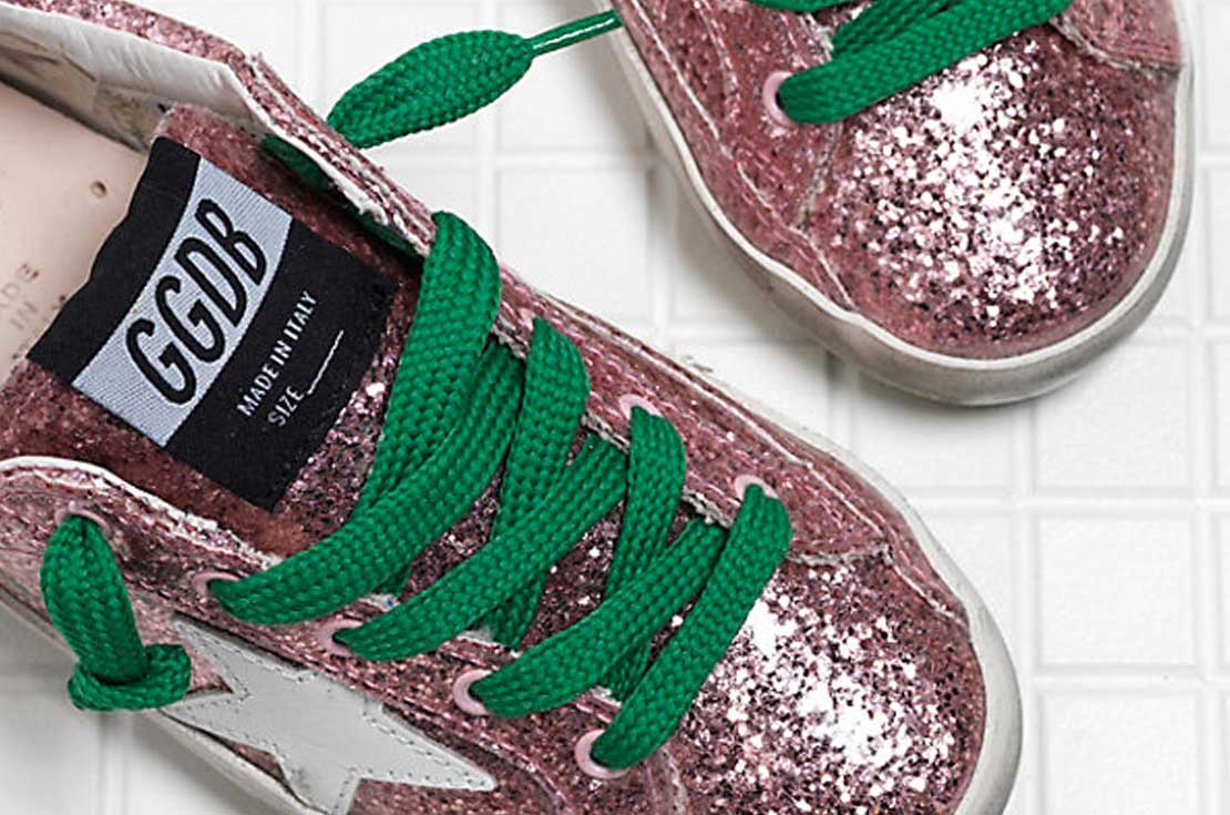 Scarpe Golden Goose Superstar Rosa per bambine e teenager Glitter