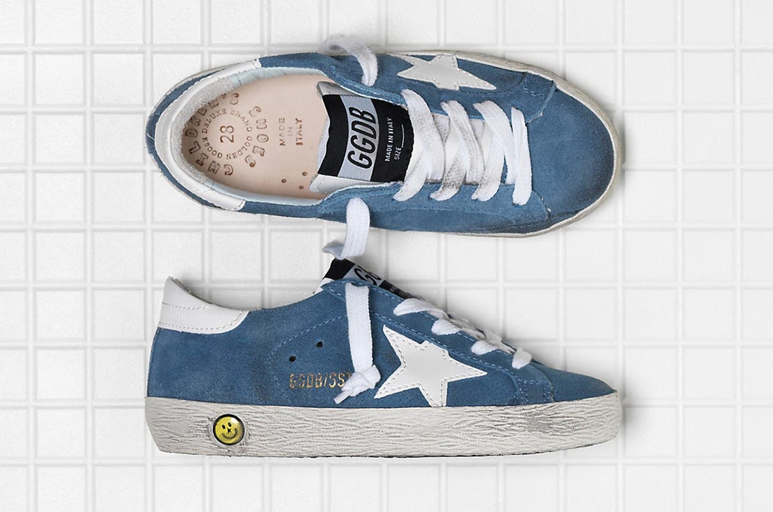 Scarpe Golden Goose Superstar Cielo per bambini e teenager