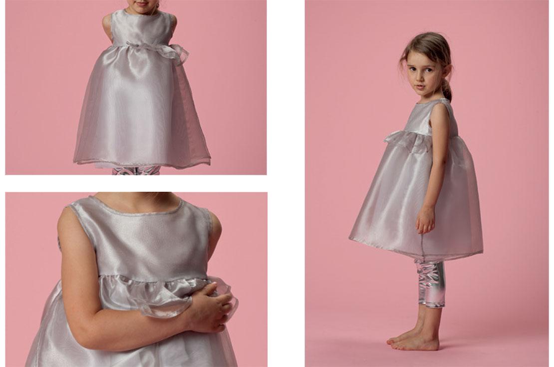 Abito bambina firmato douuod stile impero - shop online annameglio.com