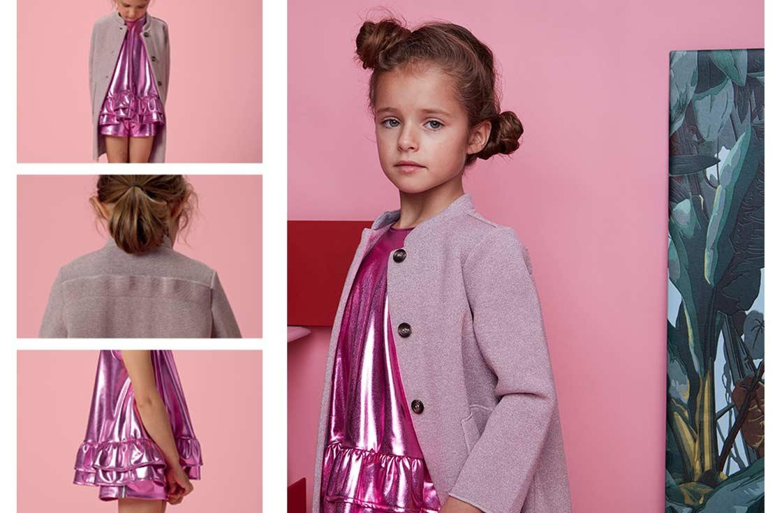 Completo bambina douuod in jersey laminato - annameglio.com shop online firmato