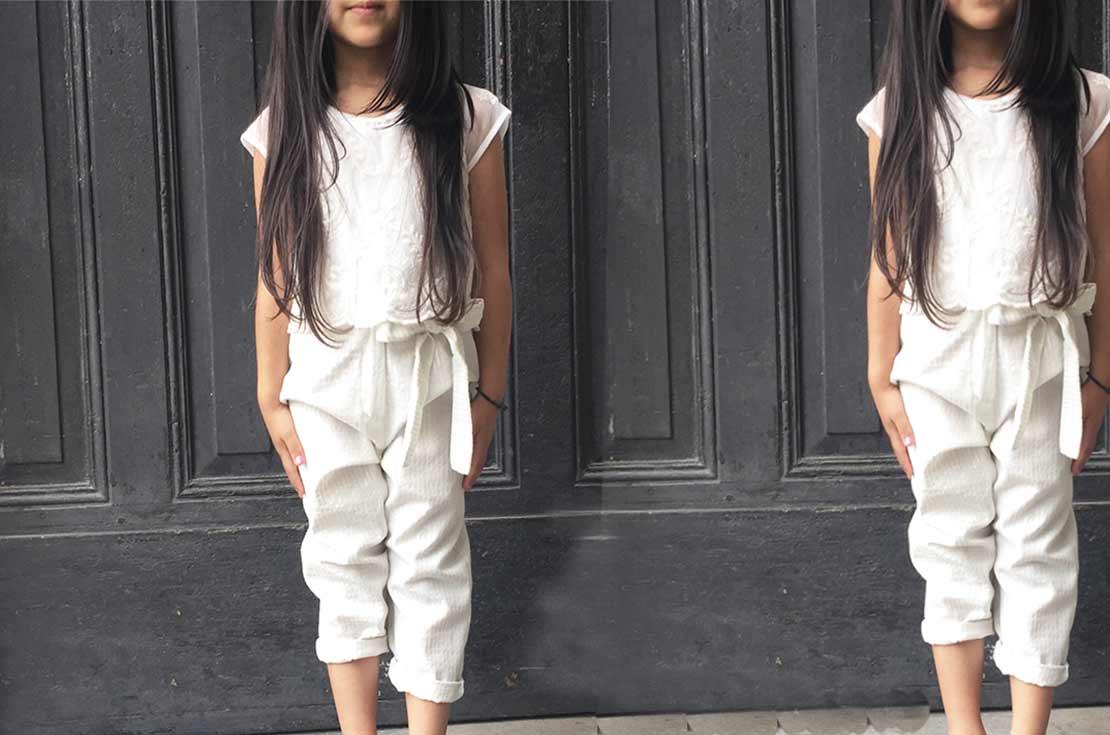 Pantalone bianco firmato Caffè D'Orzo abbigliamento bambina e ragazza - annameglio.com shop on line
