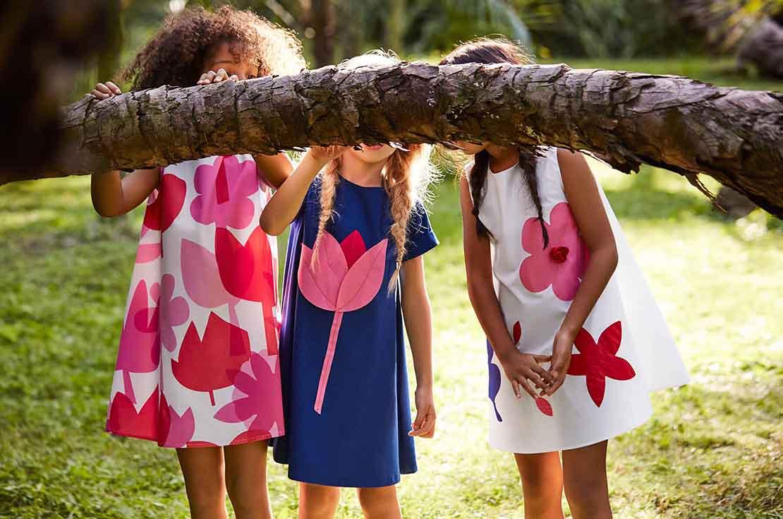 Il Gufo Abitino blu stile tunica Collezione PE17 shop on line su annameglio.com