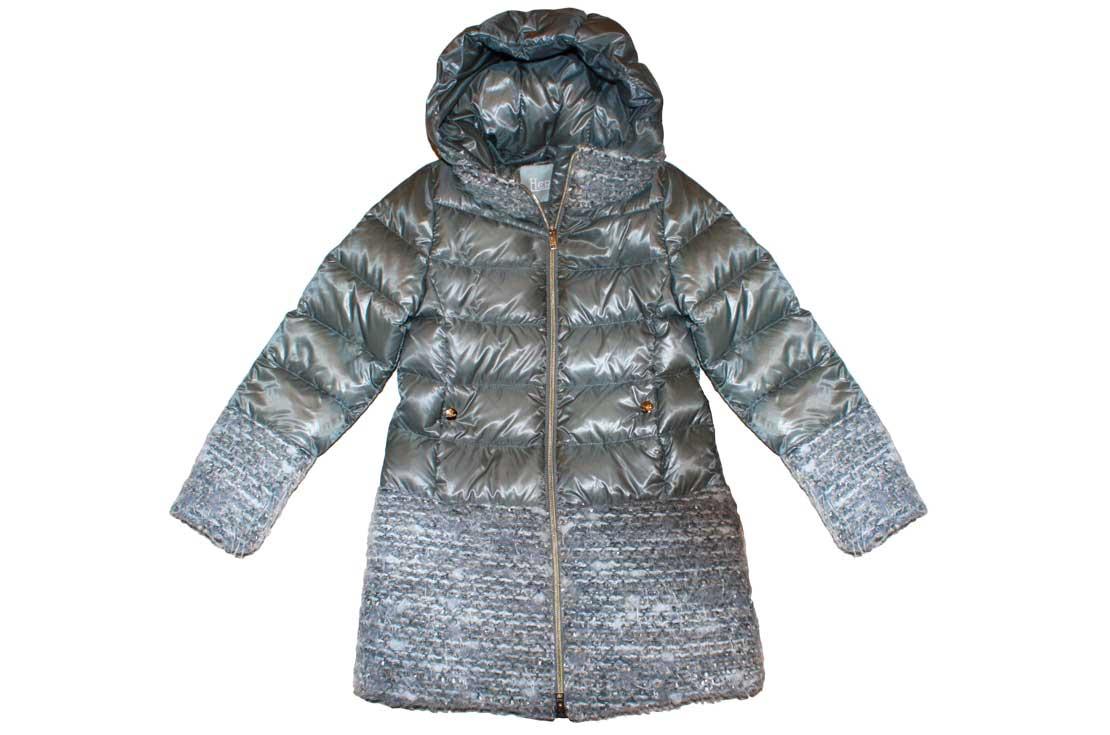 Piumino Herno grigio con dettagli in maglia - nuova collezione autunno inverno 2017-18