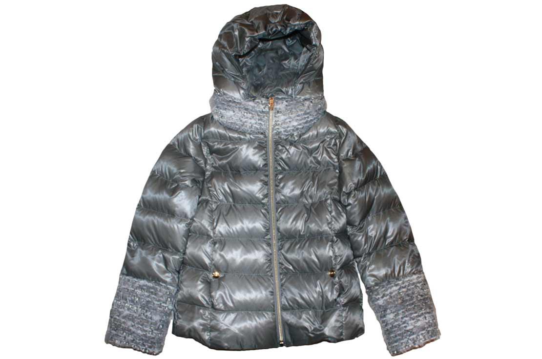 Piumino Herno grigio lucido in lana mohair - nuova collezione autunno inverno 2017-18