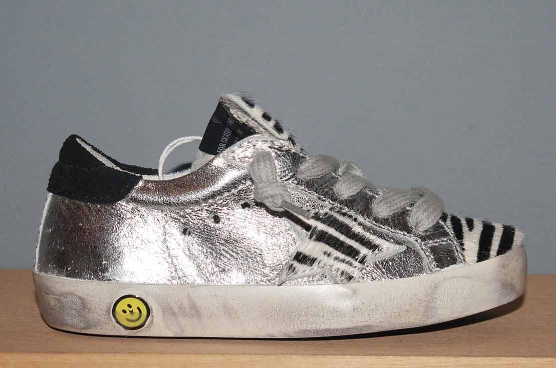Golden Goose Deluxe Brand sneaker animalier cavallino argento Nuova Collezione 2018 - annameglio.com