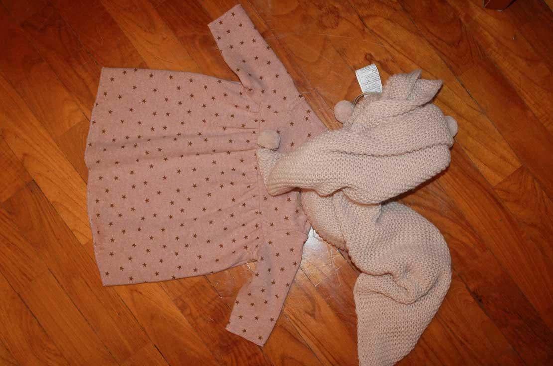 set regalo firmato bebe & tess per neo mamme composto da abitino, copertina da culla e passeggio