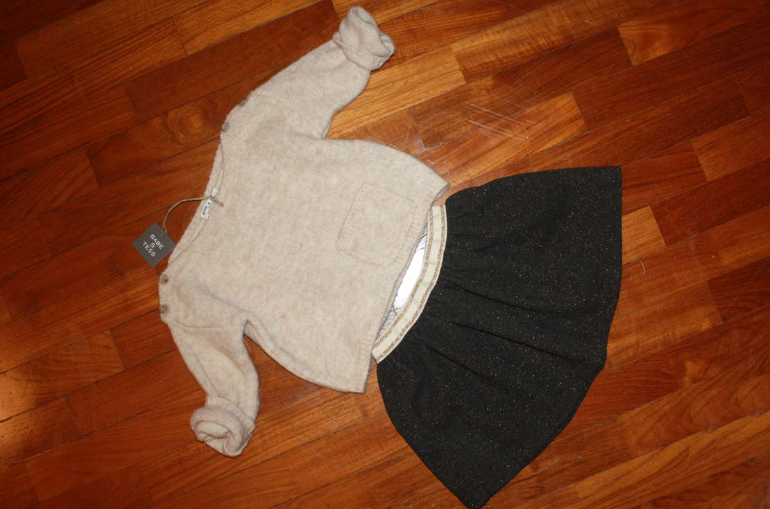 Outfit per una bambina alla moda con l'outfit firmato Bebe & Tess su annameglio.com