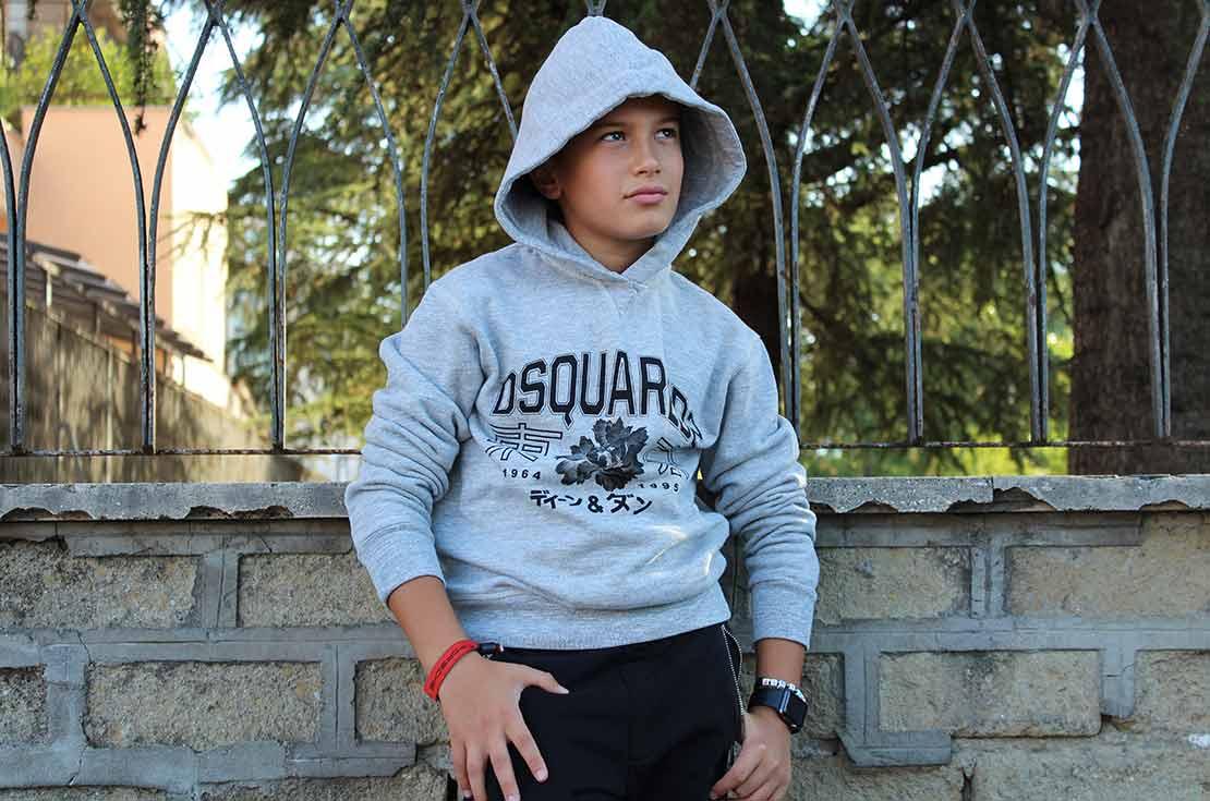 Felpa ragazzo firmata dsquared2 - shop online annameglio.com