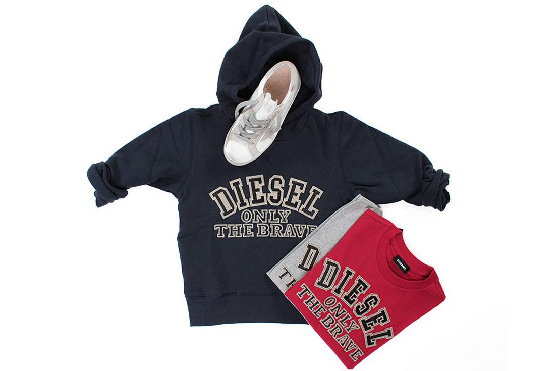 Diesel T-shirt e Felpe per Bambina ed Bambino - shop online annameglio.com