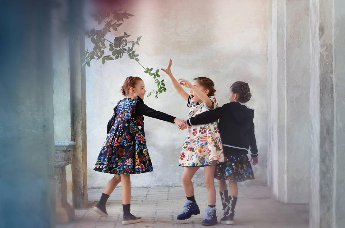 simonetta abbigliamento bambina collezione autunno/inverno 2017/18
