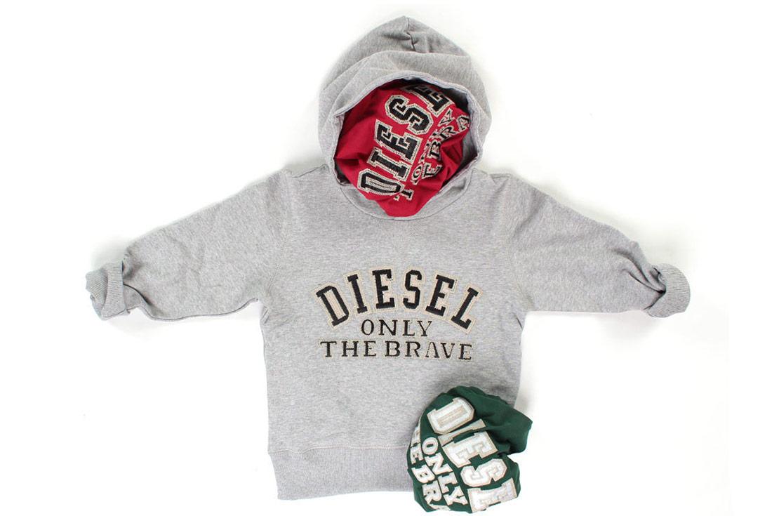 Diesel T-shirt e Felpe per Bambina ed Bambino logo iconico - shop online annameglio.com