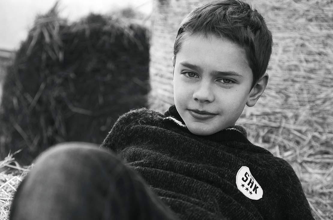 Scotch & Soda morbidissimo maglione in lana d'agnello con logo icona