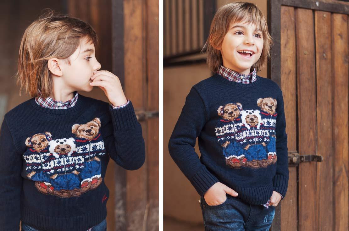 Maglione bears in lana firmata Ralph Lauren
