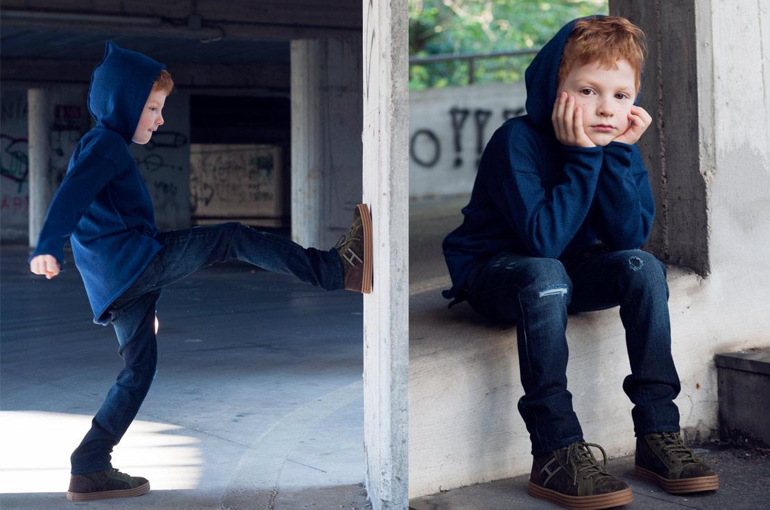 Blue jeans bambino Dsquared2 destroyed con felpa la Bottega di Giorgia