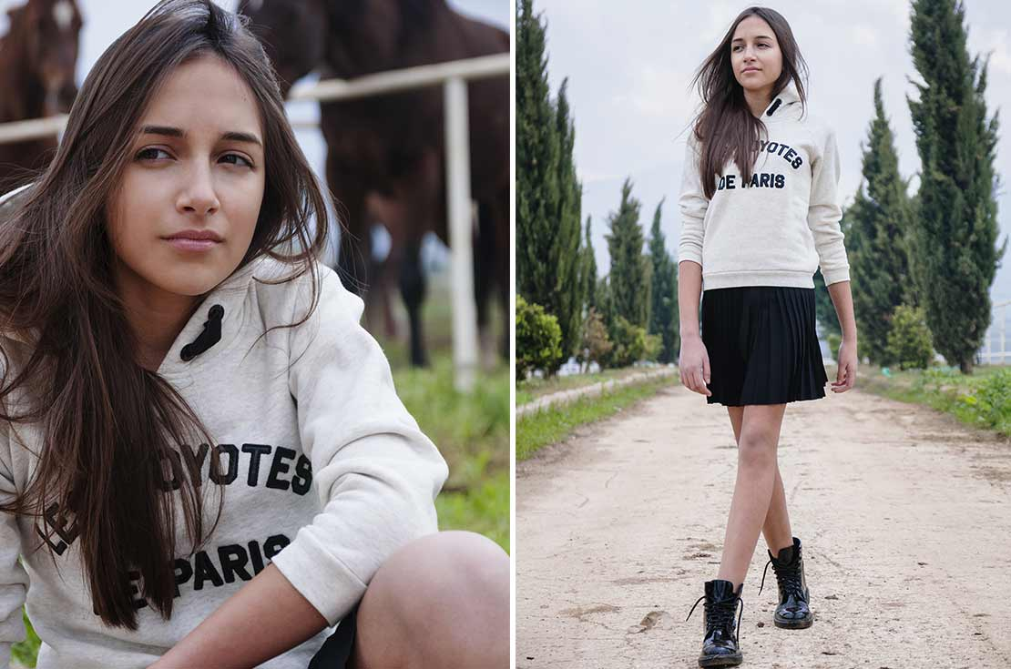 Felpa teenager Lescoytes de Paris con cappuccio