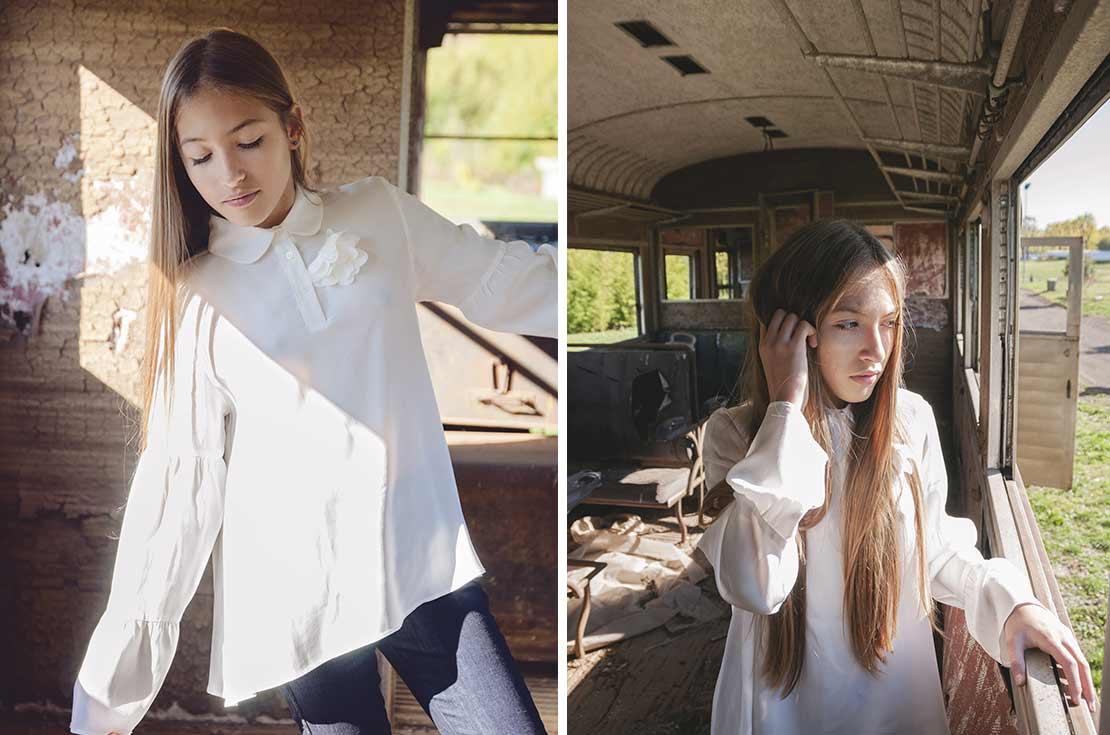 Camicia teenager di cotone manica lunga firmata Lanvin Paris