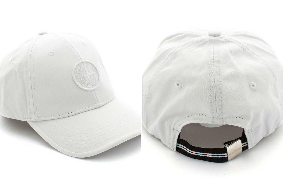 Cappello baseball bianco Stone Island Junior - annameglio.com shop online abbigliamento bambino