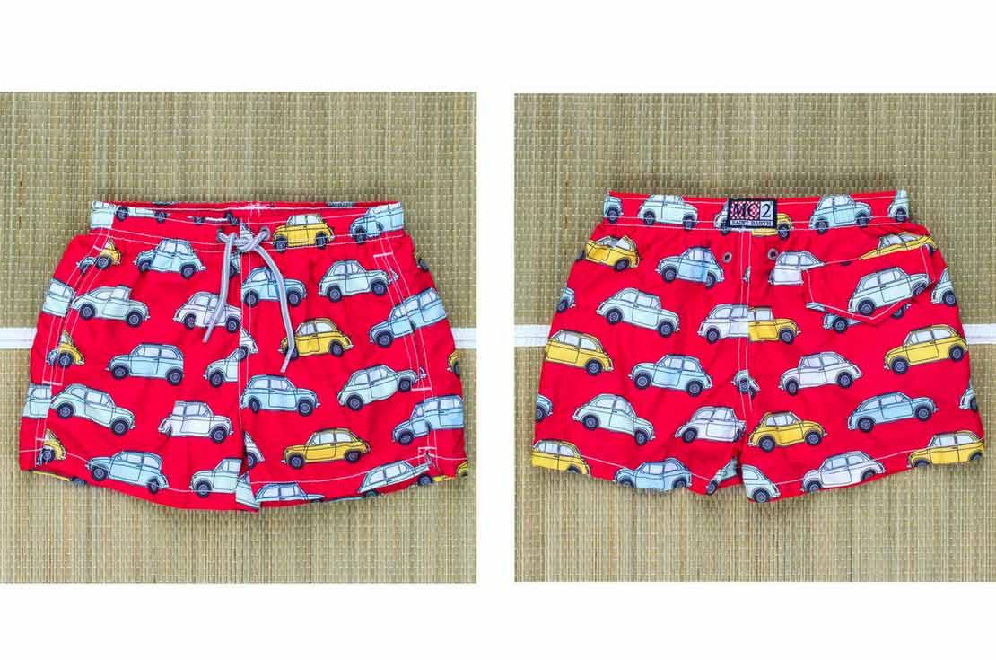 mc2 saint barth boxer mare jean cars rosso per bambino e ragazzo - annameglio.com vendita online