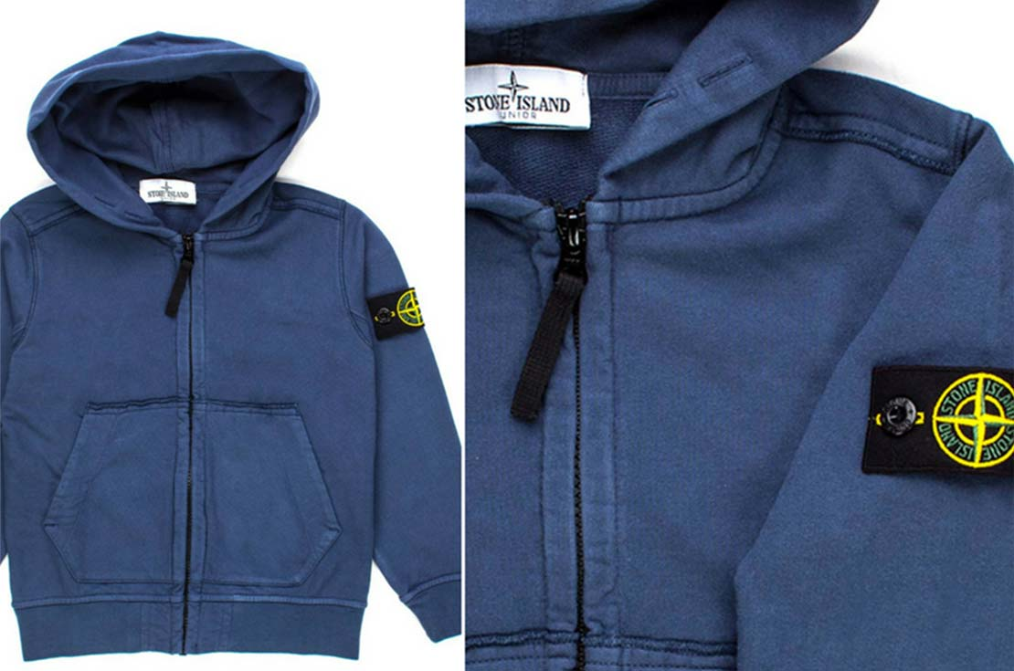 Felpa Hoodie firmata Stone Island Junior - annameglio.com shop online abbigliamento bambino