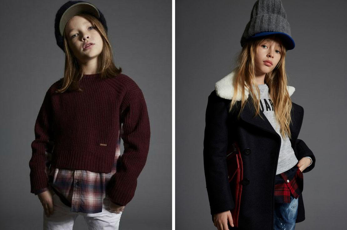 Dsquared2 bambino e bambina abbigliamento autunno inverno 2018