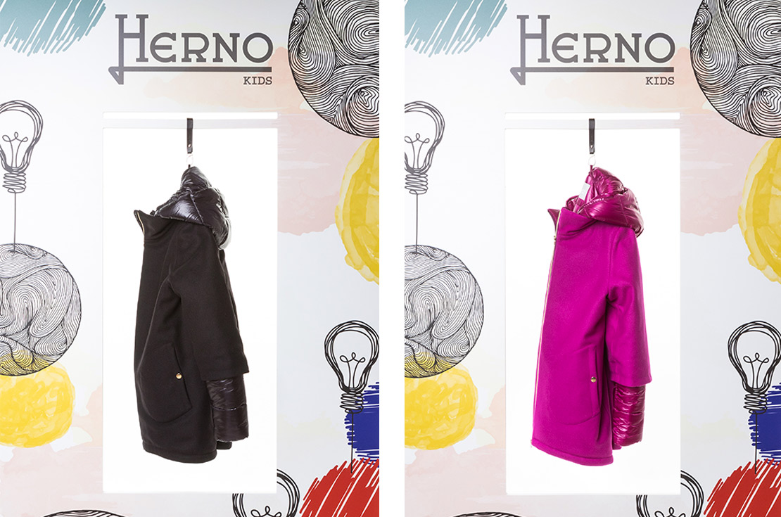 Herno Kids Autunno Inverno 2018 - cappotto bambina e teenager