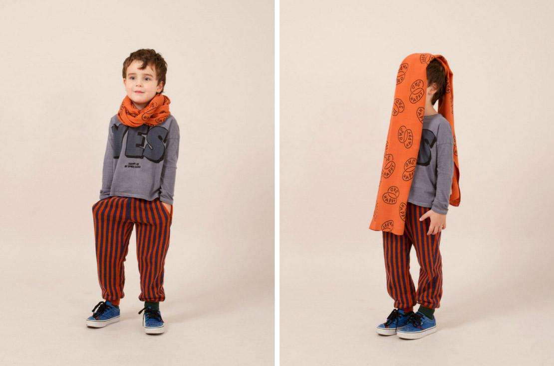 Pantalone a righe neonato e bambino firmato bobo choses - annameglio.com shop online