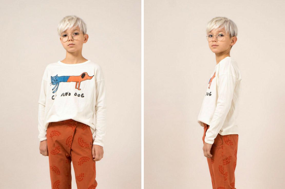 T-shirt manica lunga bambino e bambina firmata bobo choses - annameglio.com shop online