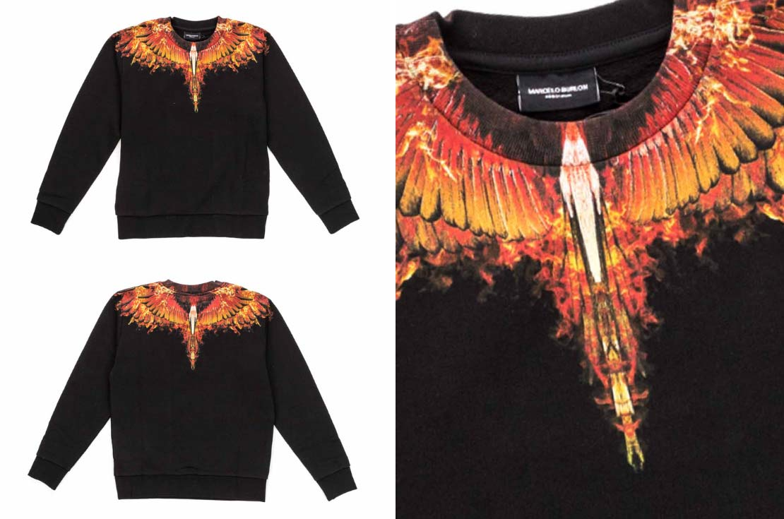 Felpa Jersey Marcelo Burlon Kids of Milan - Wings Fuego - annameglio.com shop online