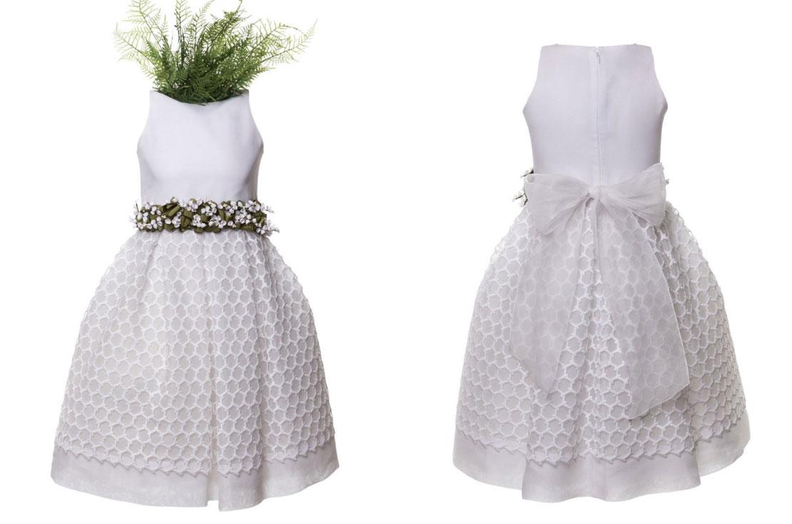 f69248eb3e Vestito prima comunione in macramè - annameglio.com shop online. Abito  cerimonia bambina tessuto macramè