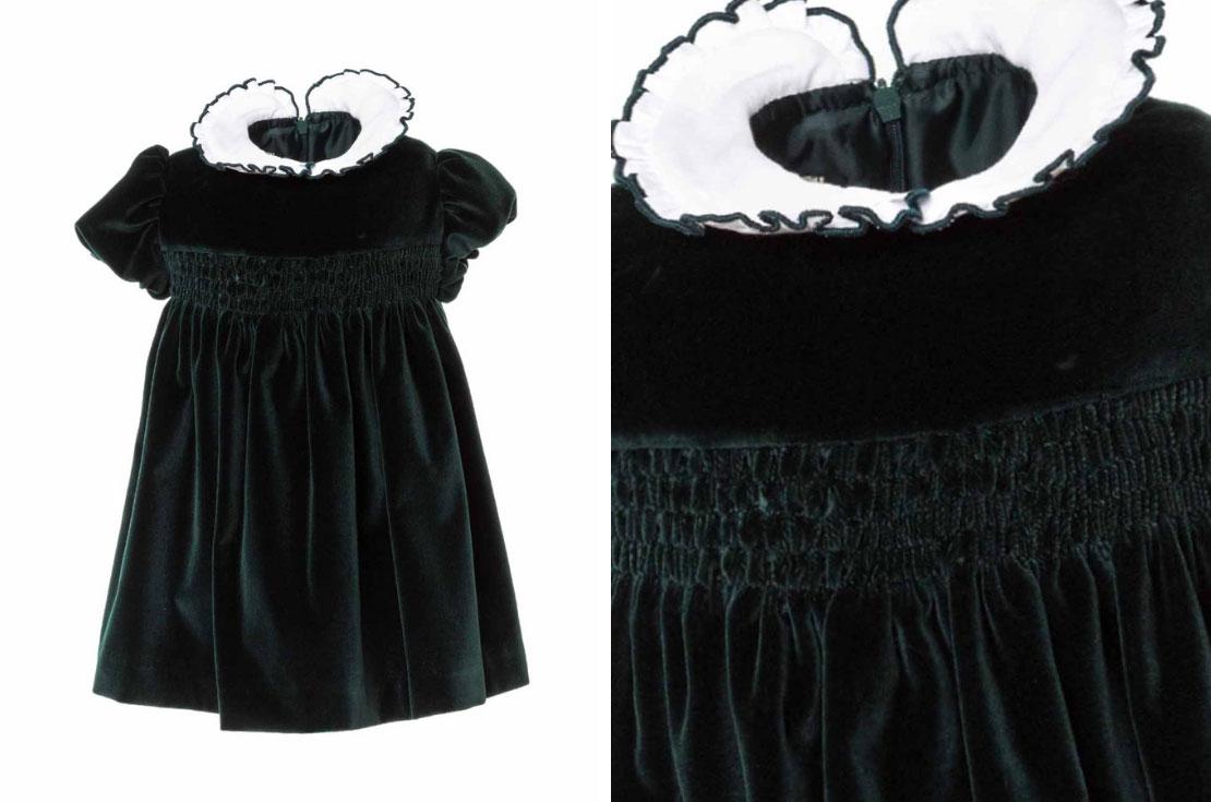 Paio Crippa gonna abito elegante in velluto per bambina da 1 anno a 8 anni