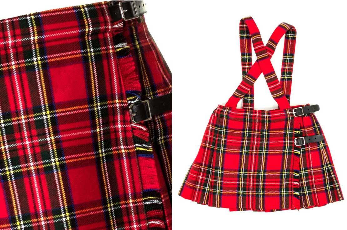 Paio Crippa gonna kilt scozzese per bambina da 1 anno a 14 anni