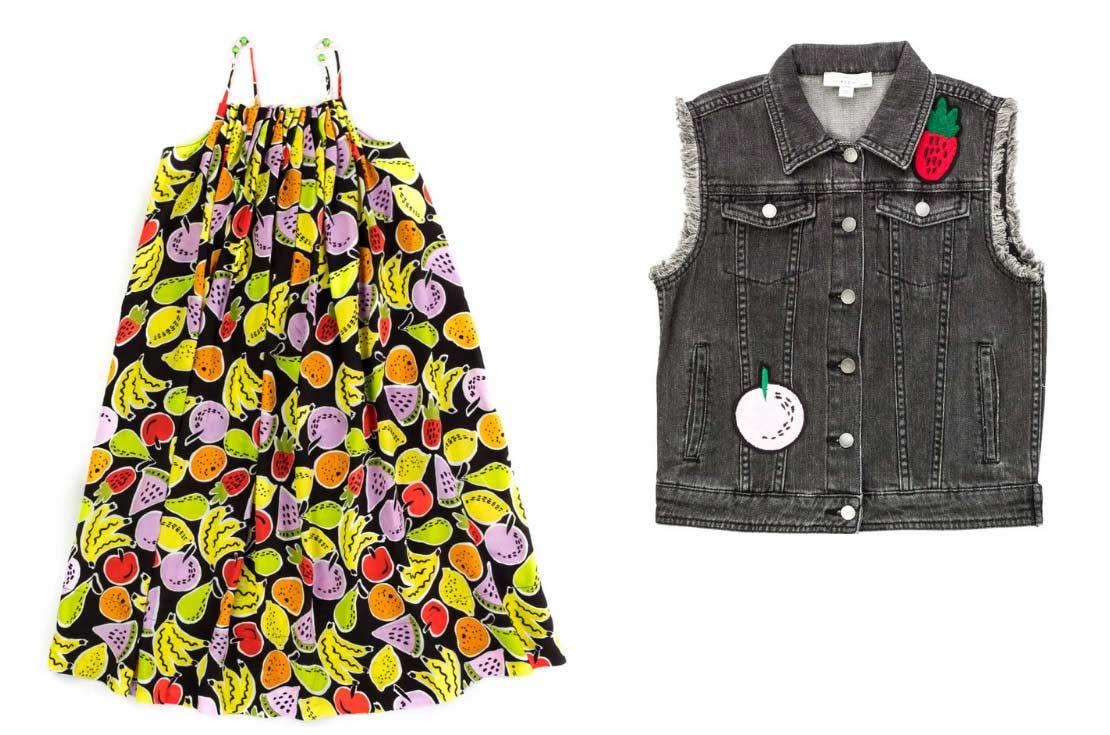 Stella McCartney Kids nuova collezione Primavera Estate 2019, Stampa Frutta