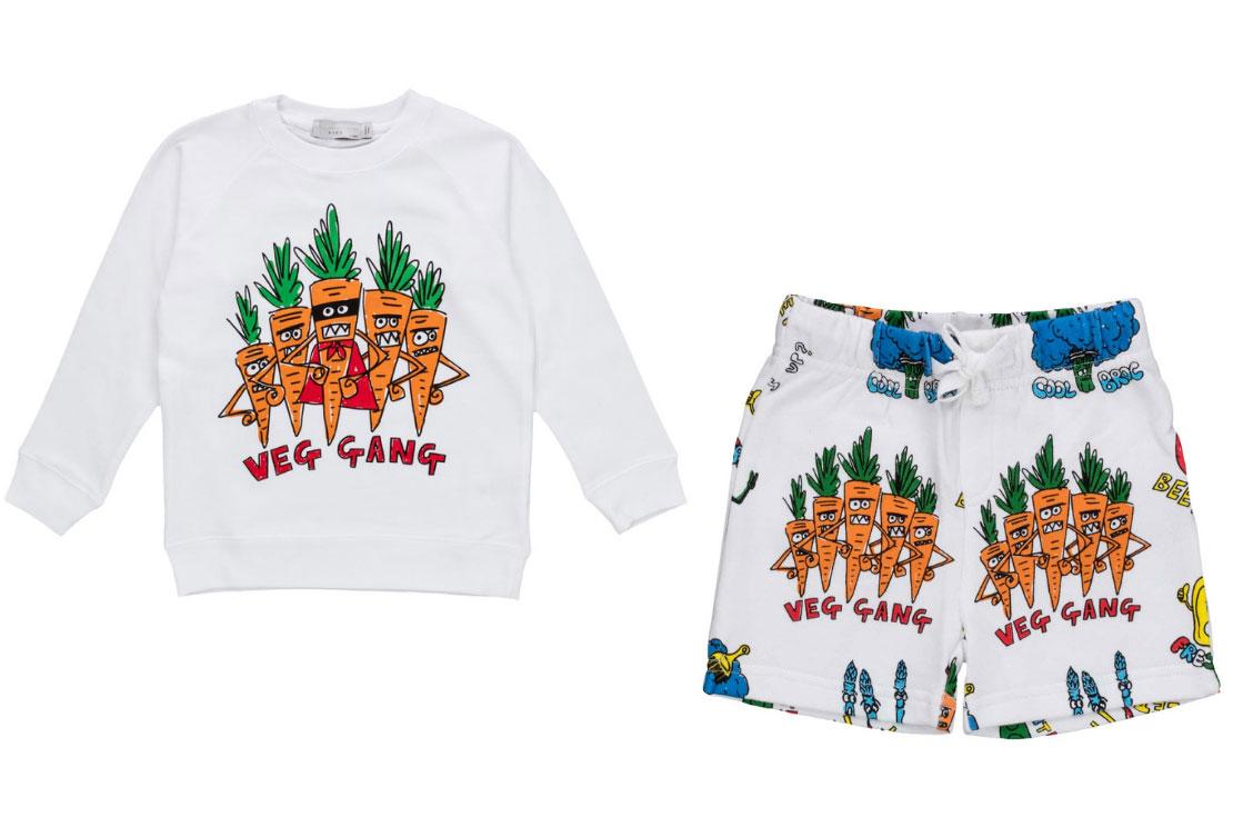 Stella McCarteney Kids, felpe e pantaloncini Vegan Style - Annameglio.com shop online