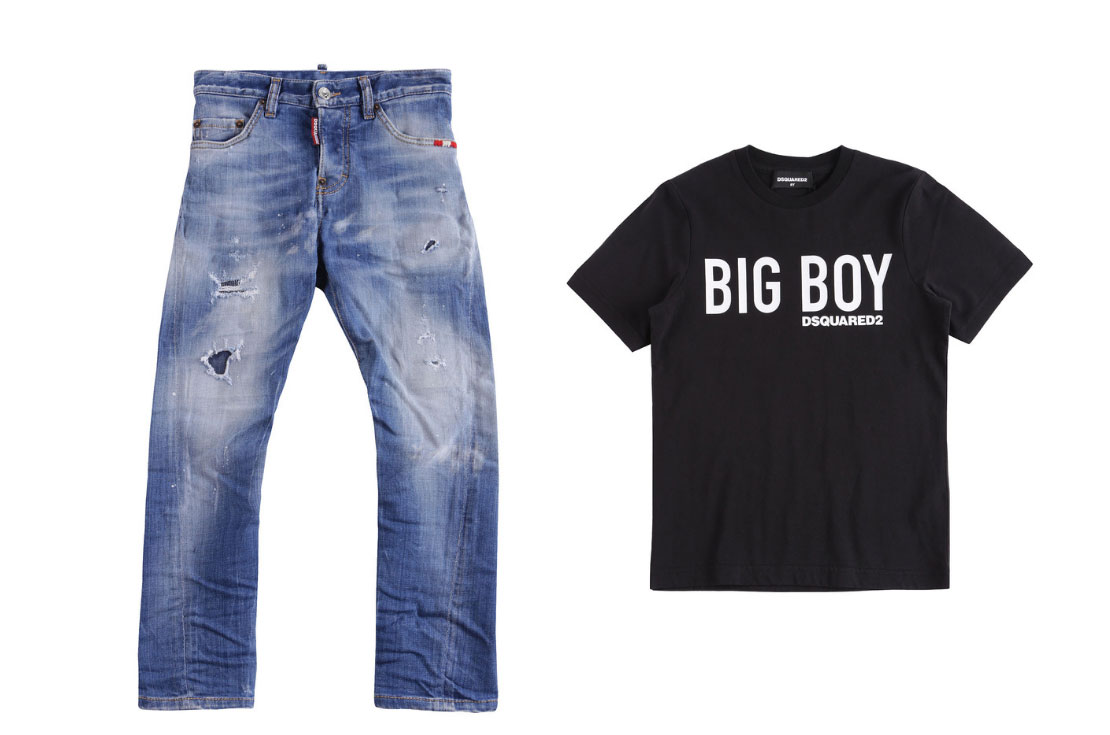 Dsquared2 Kids jeans e t-shirt big boy - compra online su annameglio.com