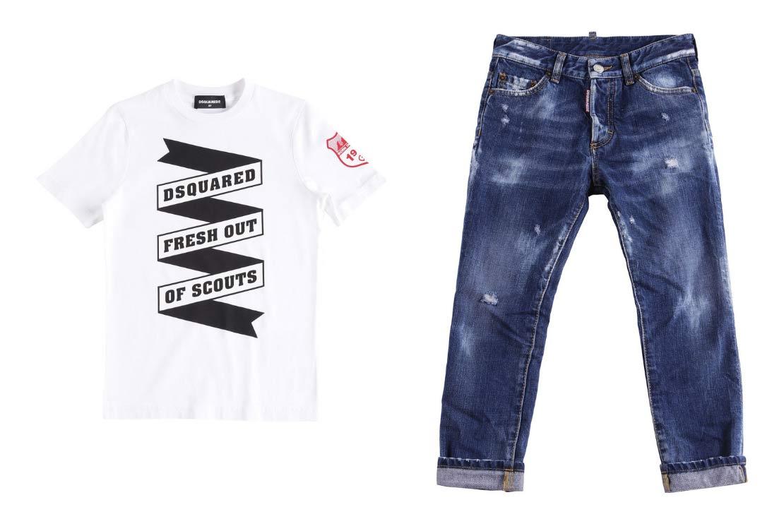 Dsquared2 Kids jeans e t-shirt 2019 - compra online su annameglio.com