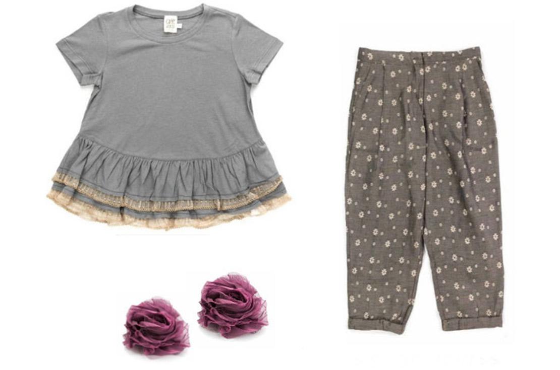 Outfit moda bambina e ragazza firmato Caffè d'Orzo, 100% Made in Italy
