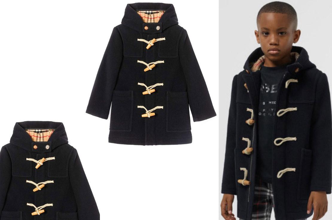 Burberry collezzione Autunno / Inverno 2019 Montgomery in lana per bambino - Annameglio.com shop online