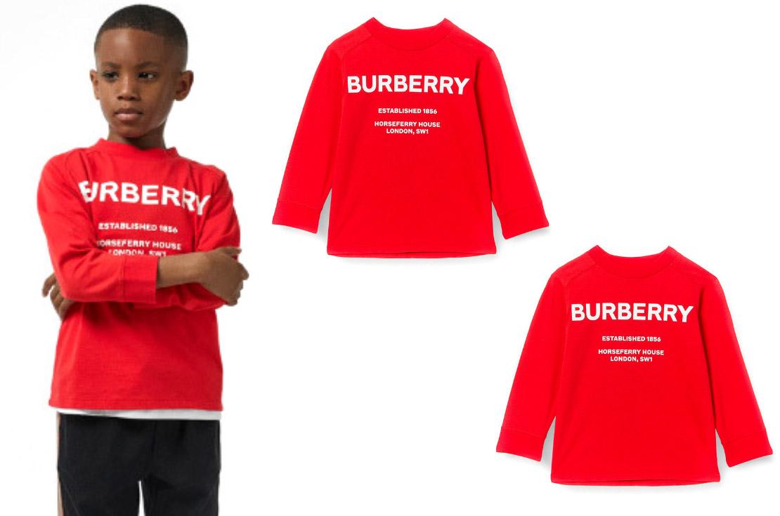 Burberry collezzione Autunno / Inverno 2019 T-shirt rossa bambini - Annameglio.com shop online