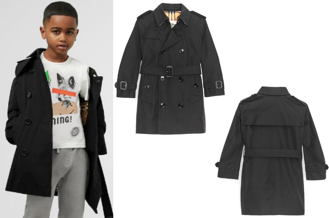Burberry collezzione Autunno / Inverno 2019 Trench Coat Nero Bambino e Teenager - Annameglio.com shop online