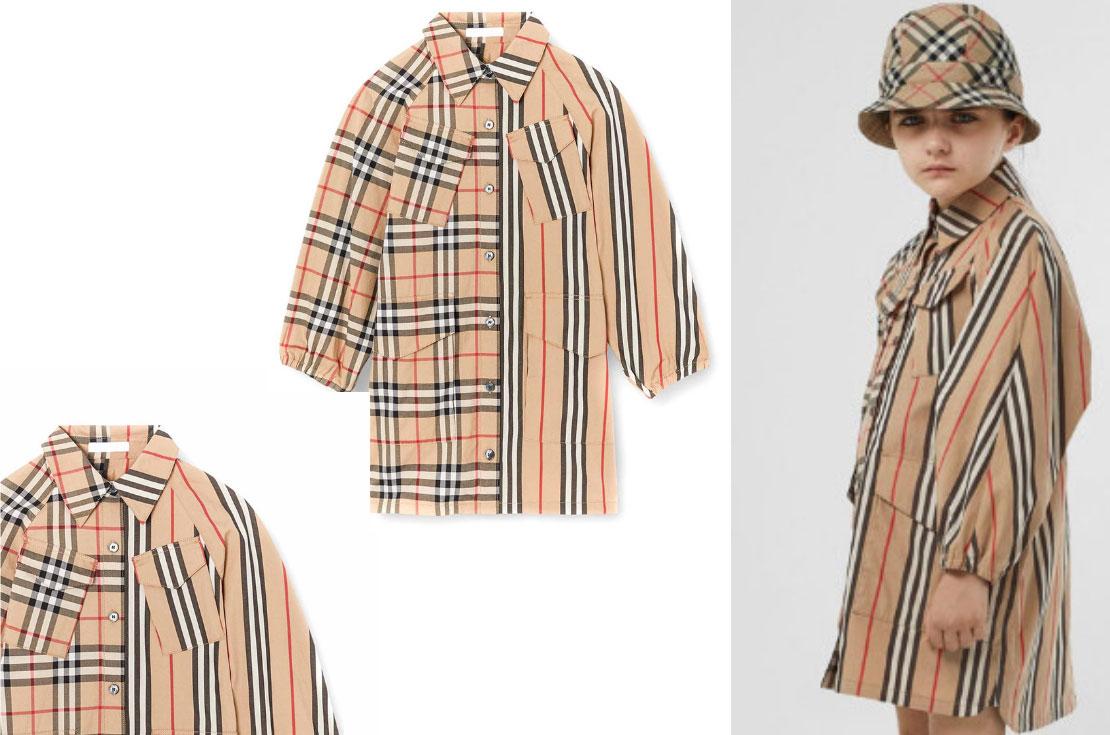 Burberry collezzione Autunno / Inverno 2019 Vestito Check Bambina - Annameglio.com shop online