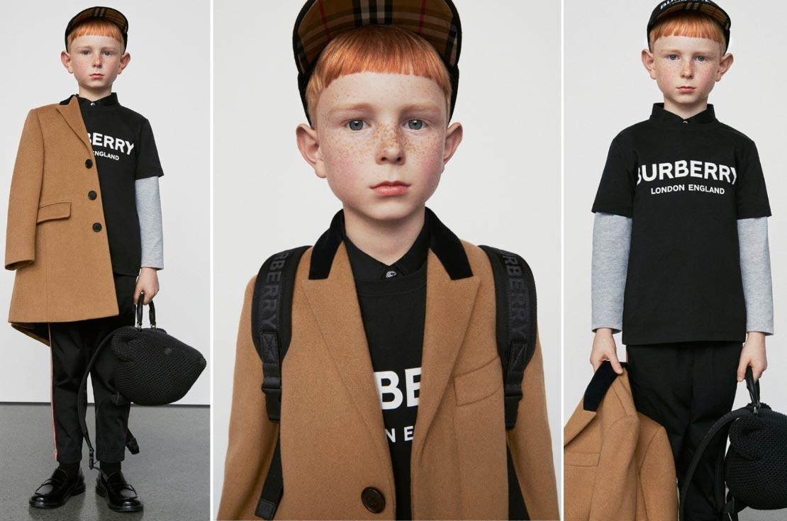 Burberry Collezione A/I 19 abbigliamento firmato bambino bambina