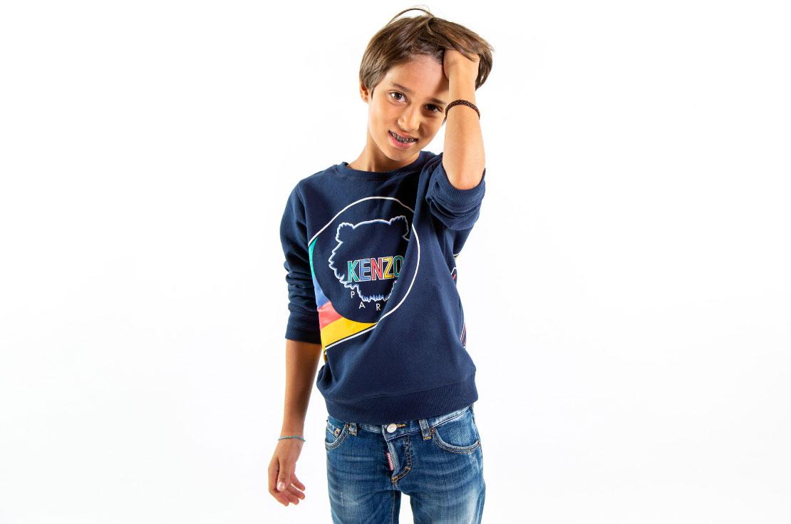 felpa Kenzo Kids bambino con logo - annameglio.come shop online
